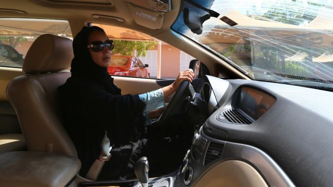Saudi woman's car set ablaze