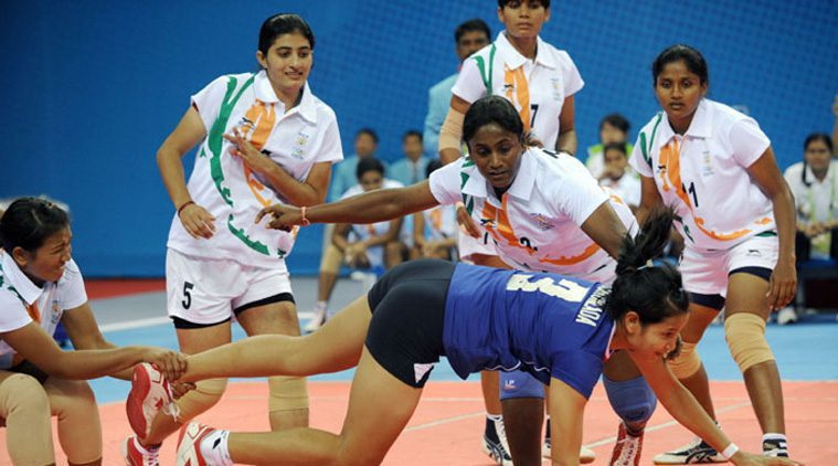 Indian Women's Kabaddi Team  Picture By: The Indian Express