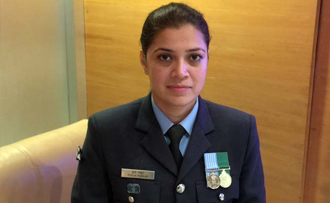 Wing Commander Puja Thakur Picture By: NDTV