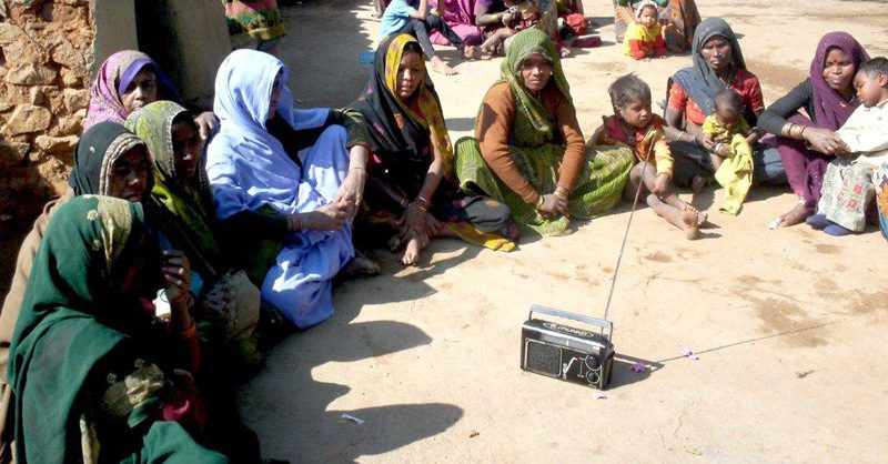 Women in Bundelkhand listening to Radio Picture By: UNESCO