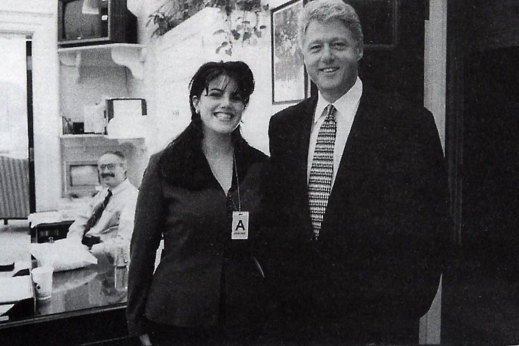 Lewinsky with President Bill Clinton Picture By: NY Post