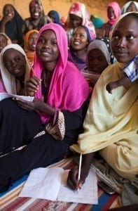 English classes for displaced women