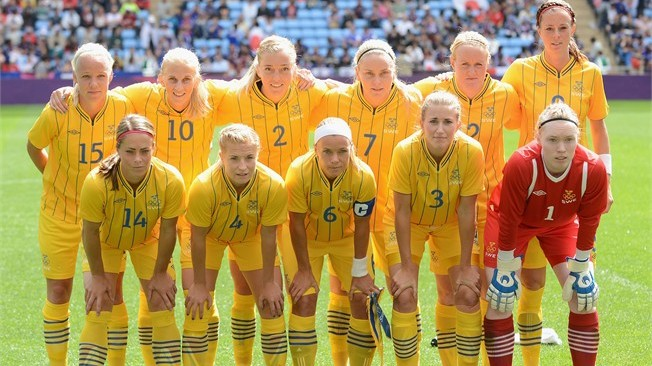 Swedish women's football team Picture By: North Stand Chat