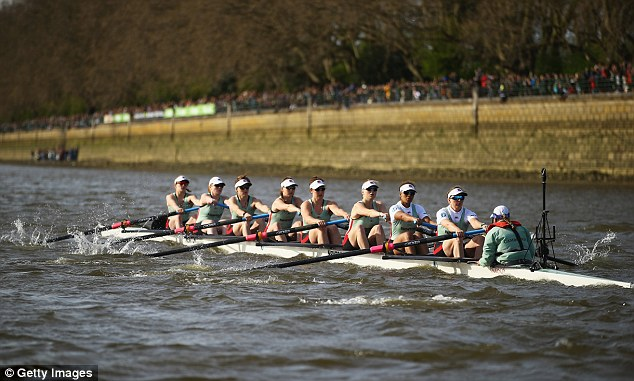 The Cambridge crew during the r