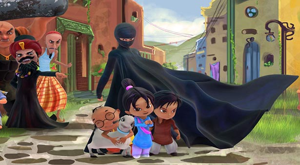 All the central characters of the 'Burka Avenger' Picture By: Evidence & Influence
