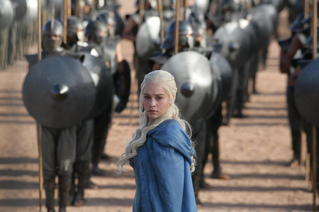 Emilia Clark as  Daenerys Targaryen on Game of Thrones Picture By: Pintrest