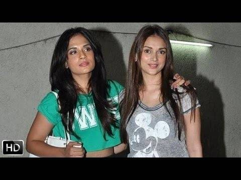 Richa Chaddha and AditI Rao Hydari both used Twitter to show their support for the video Picture By: In.com