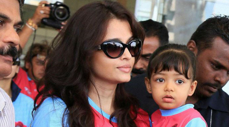 Aishwarya Rai Bachchan with husband and daughter Picture By: Indian Express