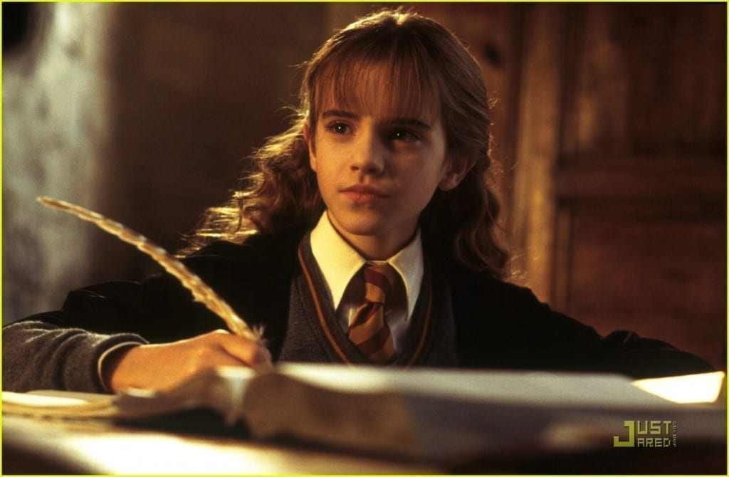 Emma Watson as Hermione Granger in the Harry Potter series Picture By: Just Jared Jr.