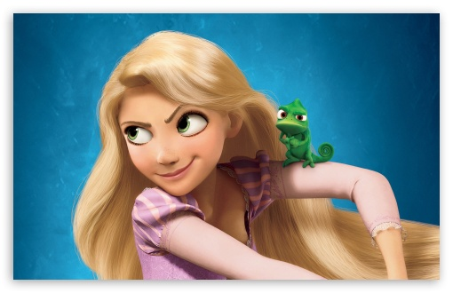 Rapunzel from 'Tangled'  Picture By: HD Wallpapers Wide