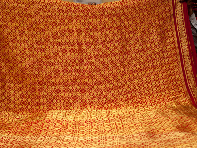 A fully embroidered Mysore Silk saree  Picture By: D'Source