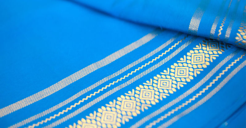 A finished Mysore Silk Saree Picture By: Wikipedia