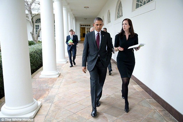 Katie Beirne Fallon with President Barack Obama Picture By: Daily Mail