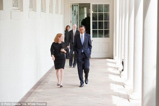 Jen Psaki with President Barack Obama Picture By: Daily Mail