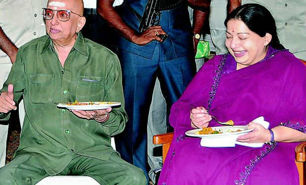 Jayalalitha with Thuglak editor Cho Ramaswamy Picture By: Deccan Chronicle