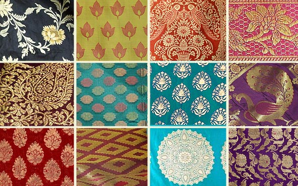 Different desings used in Benarasi Sarees Picture By: Gaatha.com