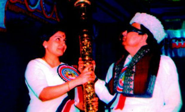 Jayalalitha with MGR Picture By: Deccan Chronicle