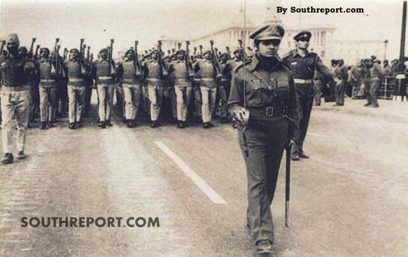 Kiran Bedi leading the Police Contingent on Republic Day 1973
