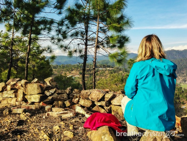 Mariellen in Kosi, Kumaon region in the Himalayas Picture By: Breathedreamgo