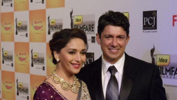 Madhuri Dixit with her husband Dr. Sriram Nene Picture By: Z News India