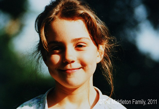Catherine, The Duchess of Cambridge at the age of five Picture By: Daily Mail.co.uk