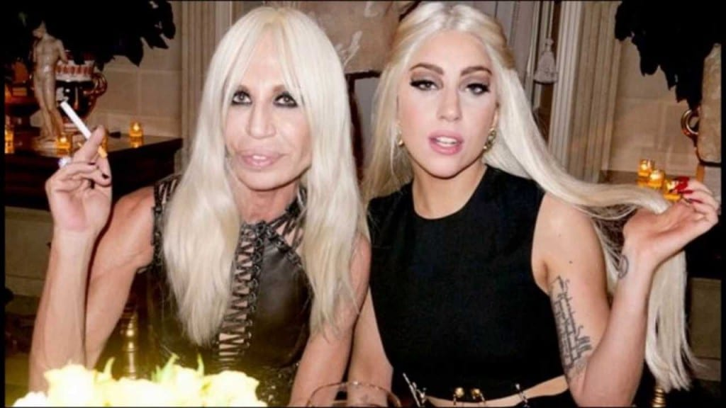 Donatella Versace with Lady Gaga Picture By: You Tube