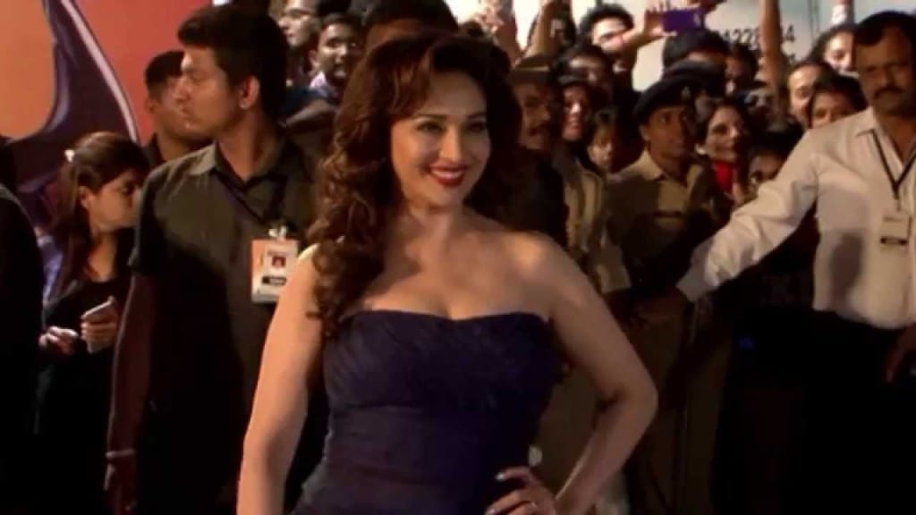 Madhuri Dixit at Filmfare Awards earlier this year Picture By: You Tube