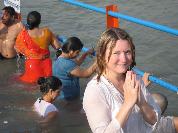 Mariellen Ward during the Kumbh Mela Picture By: My Gola