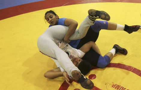Women in wrestlers in India