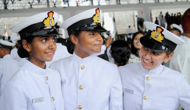 Indian navy inducting women sailors