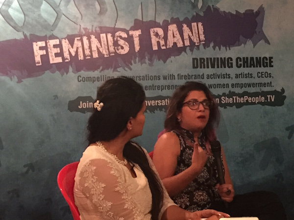 Aditi Mittal makes a point at Feminist Rani