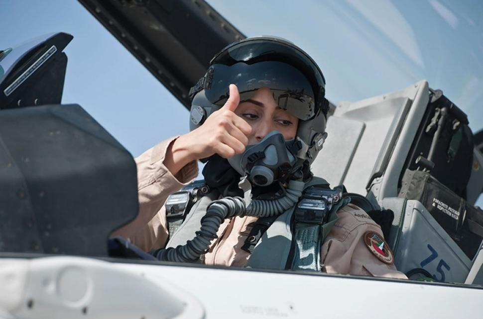 UAE's first female fight pilot Mariam Al Mansouri: Pic by NYT
