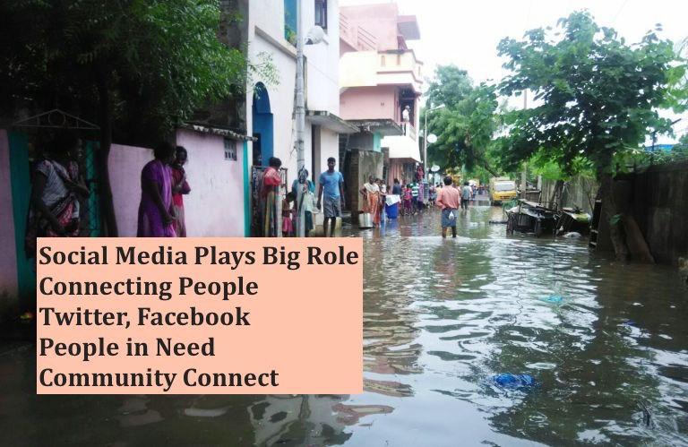 How Social Media is playing a role in Chennai Rains - Pic by NewsMinute