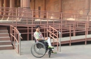 Ms. Jindal at Red Fort, Delhi made accessible by Svayam