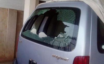 Malini Subramaniam's car (Pic by TOI)