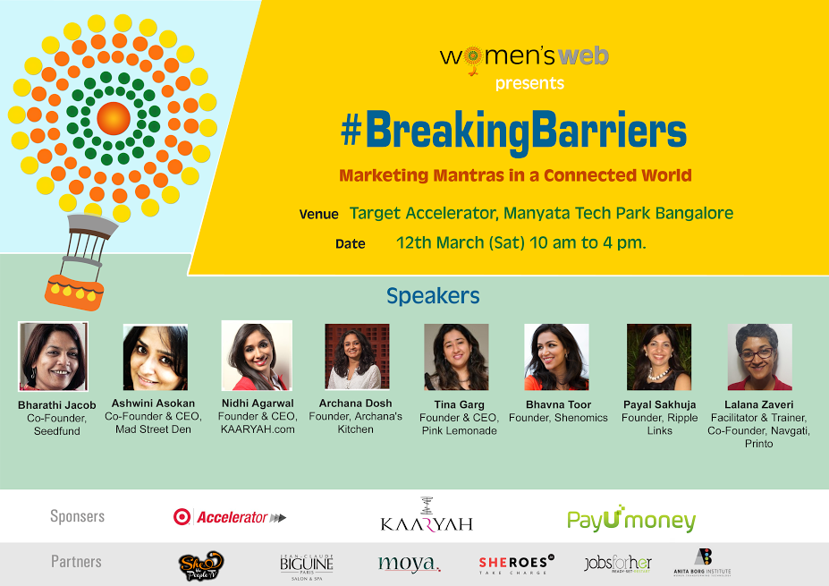 Breaking Barriers|Womens Web|Marketing Event