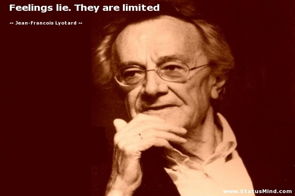 Jean Francois Lyotard, French Philosopher