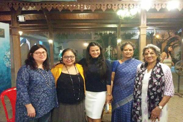 L to R: Our Panelists Mary Dore, Paromita Vohra and Meghna Pant along with audience members Dr. AL Sharada and Dolly Thakore