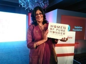 Anuja Gupta being recognised by the Vodafone Foundation as one of their 50 women achievers this Women's Day #WomenofPureWonder