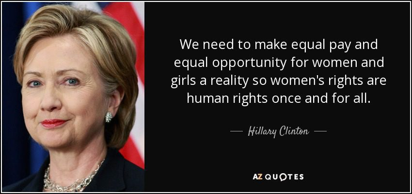 Hillary Clinton on Equal Pay