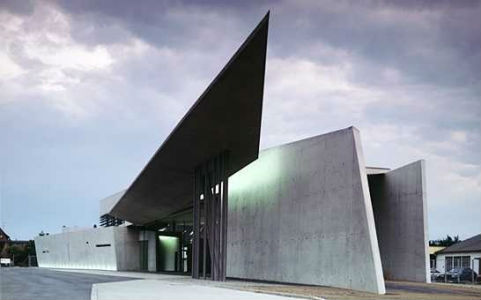 The Vitra Fire Station in Weil Am Rhein, Germany  (Pic By Studydroid.com)