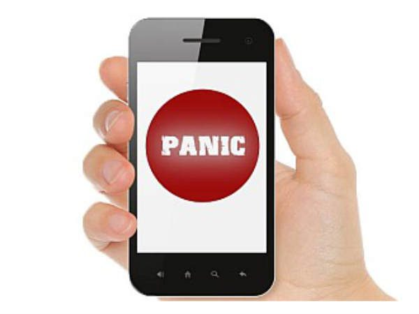 Panic button on mobile devices