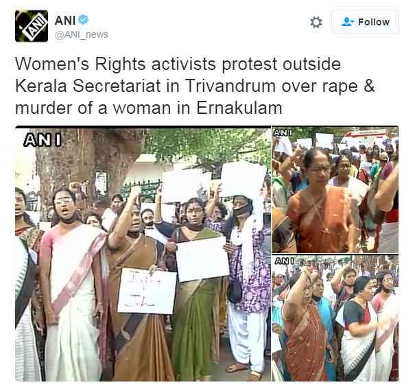 Women's Rights activists protest