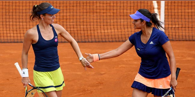 No 1 doubles pair of Sania Mirza and Martina Hingis