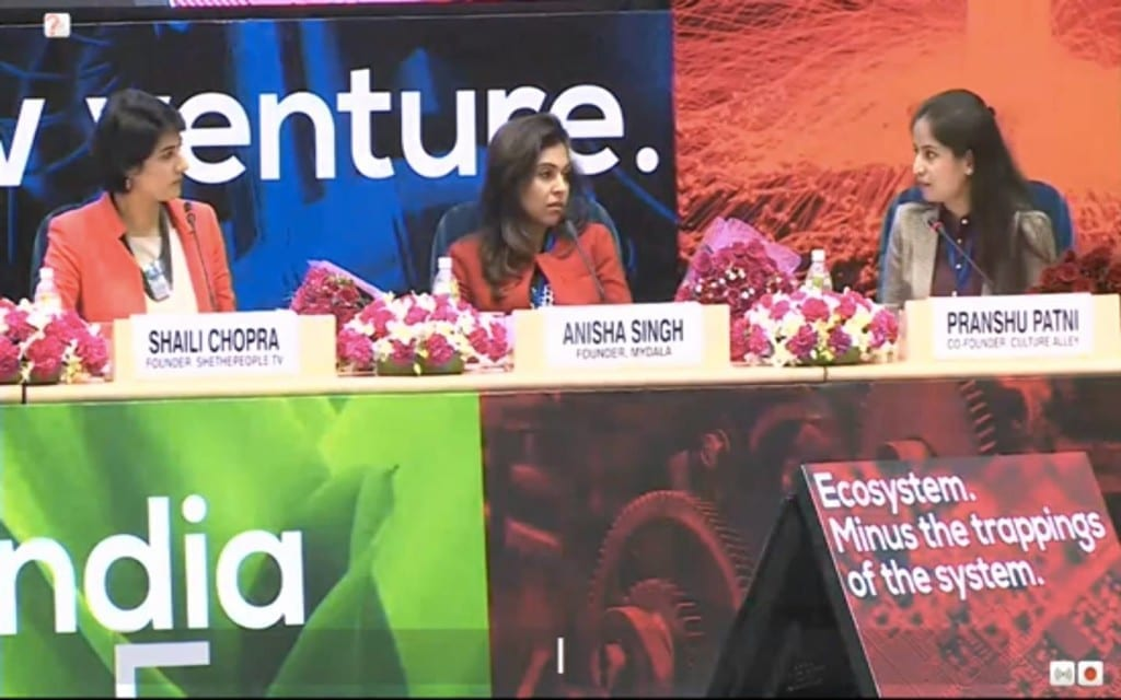 Shaili Chopra moderates panel at StartUp India 4