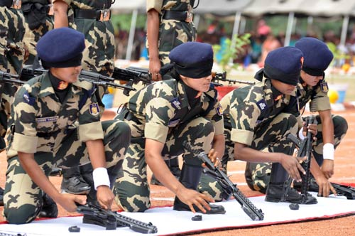 CRPF women personnel poll vigil