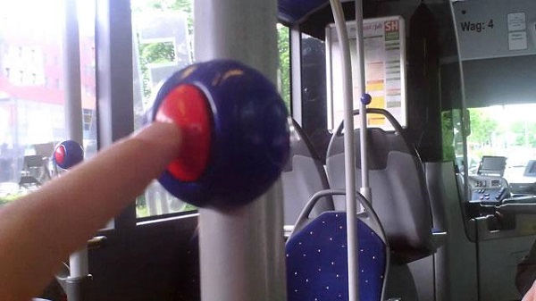 Panic button in bus