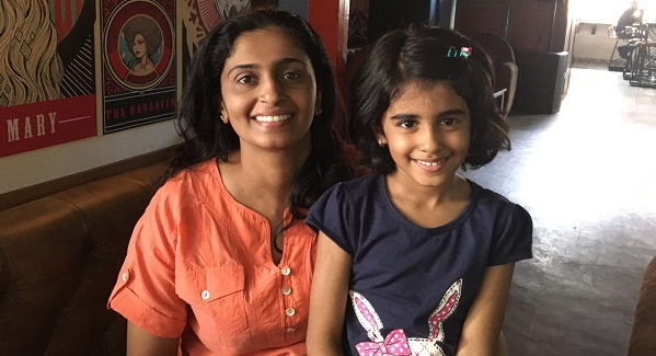 shobha nair with daughter