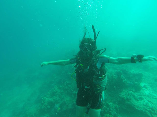 The fun of scuba diving