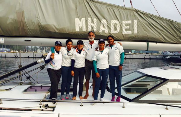 Indian navy's first all woman crew